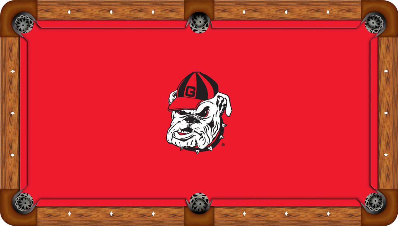 University of Georgia Pool Table Cover w// Bulldogs Logo