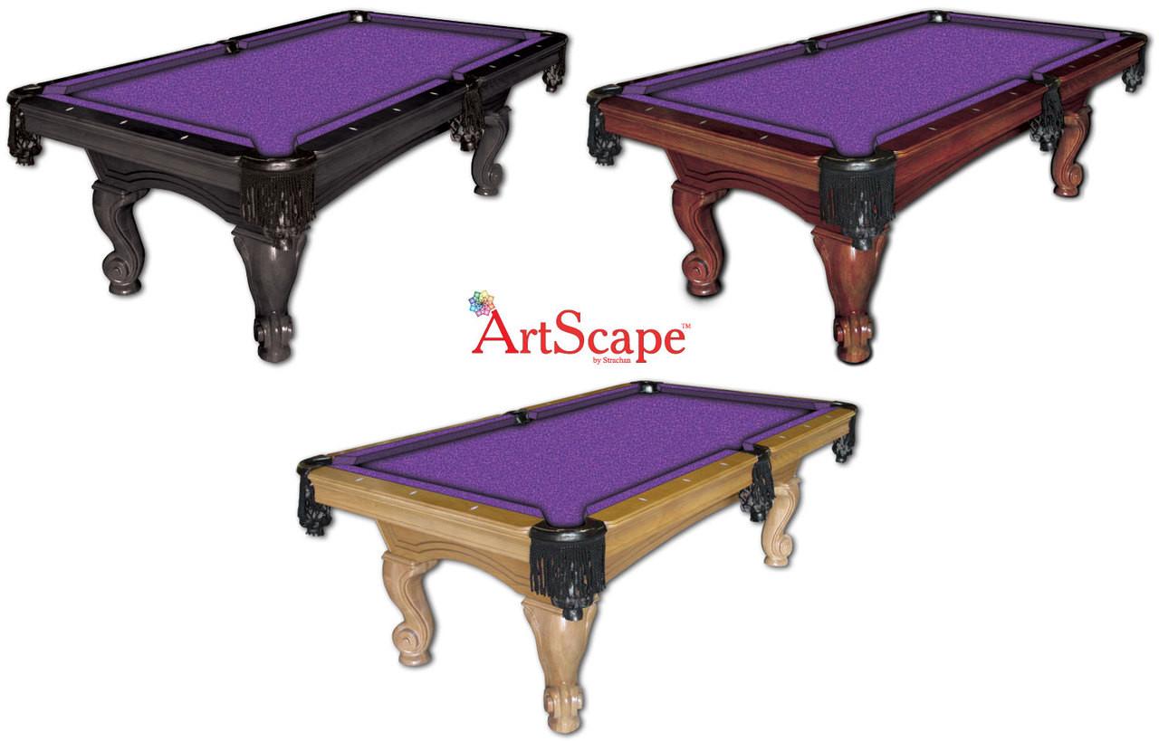 ArtScape Purple Mosaic Pool Table Cloth
