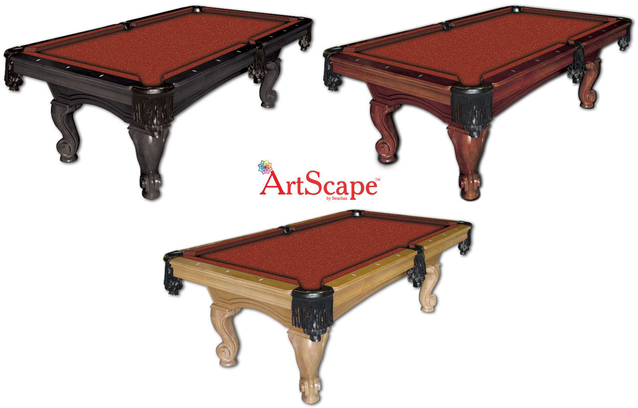 ArtScape Red Mosaic Pool Table Cloth