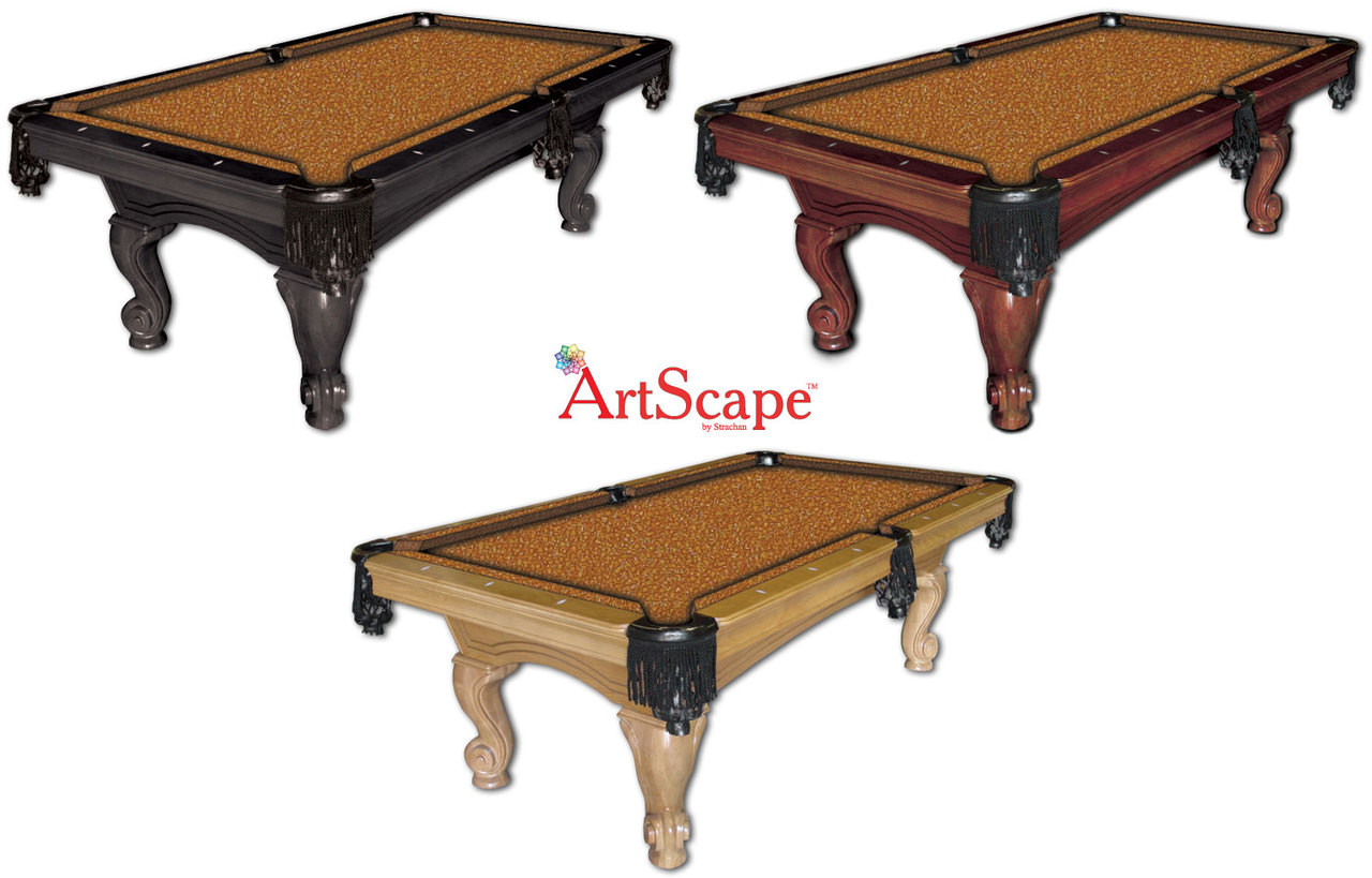 ArtScape Gold Confetti Pool Table Cloth