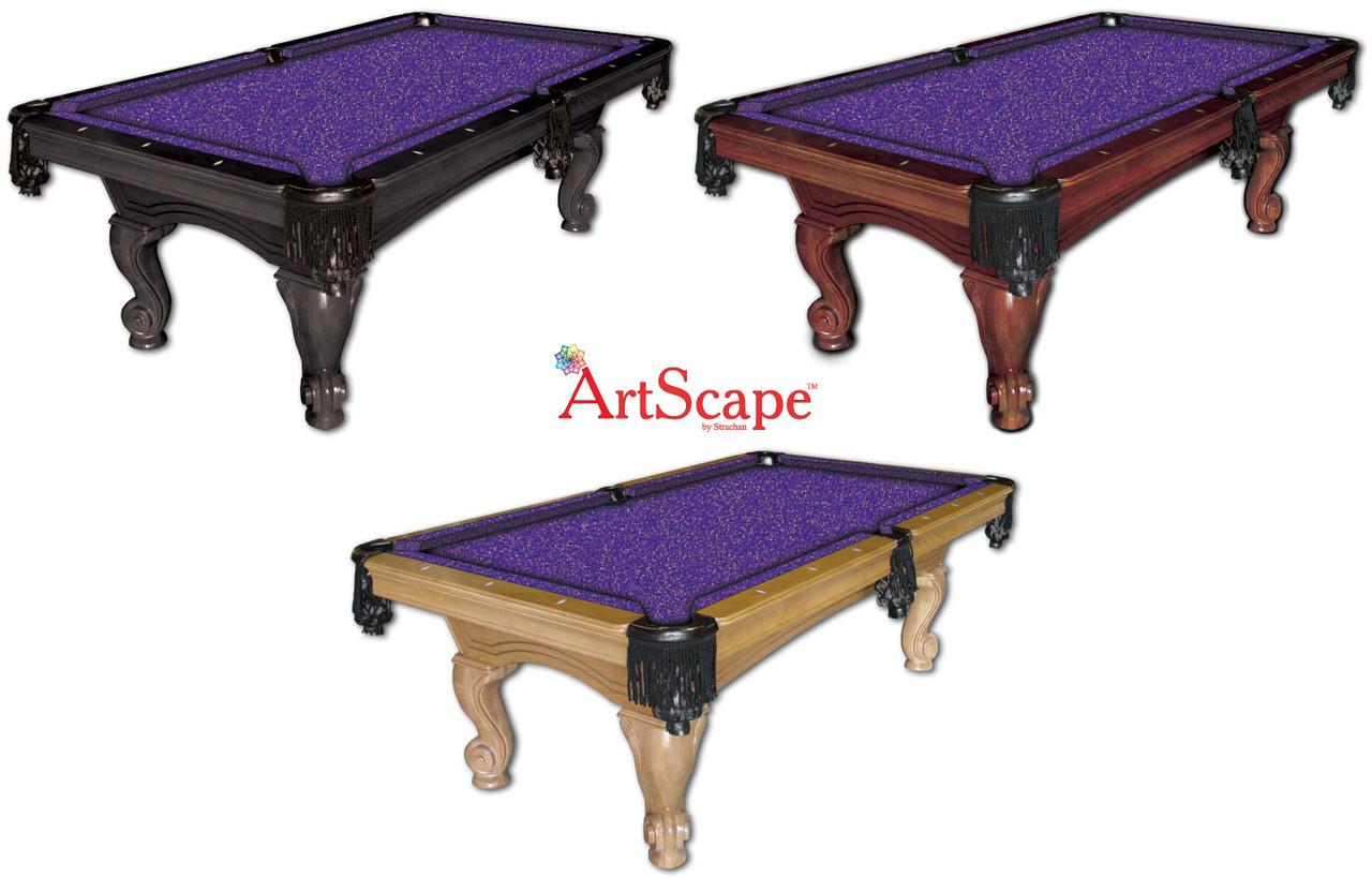 ArtScape Purple Confetti Pool Table Cloth