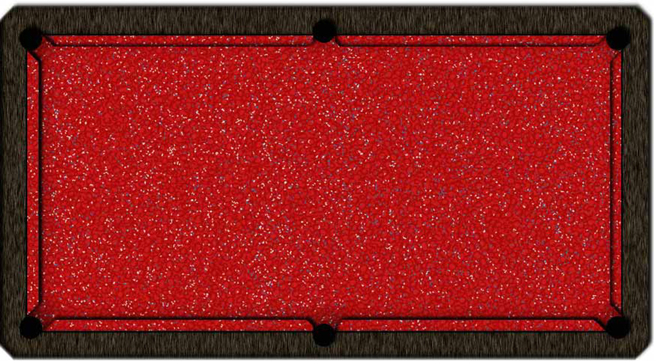 ArtScape Red Confetti Pool Table Cloth