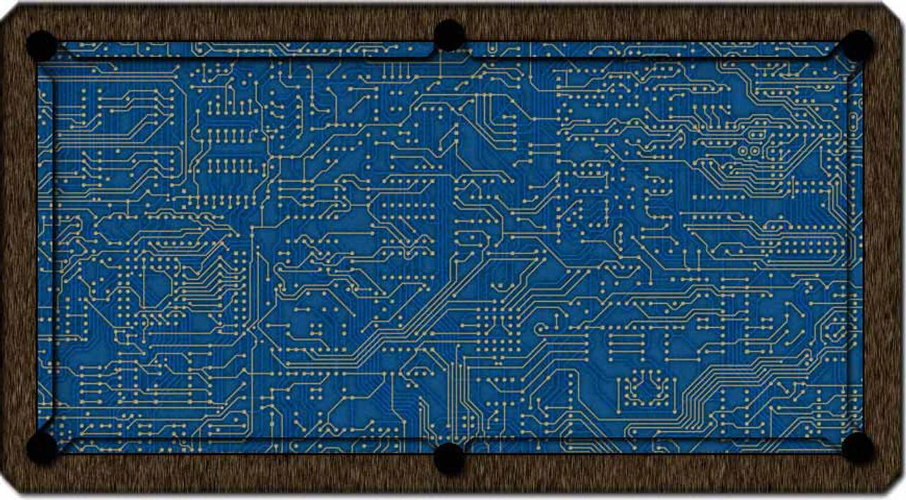 ArtScape Blue Circuit Board Pool Table Cloth