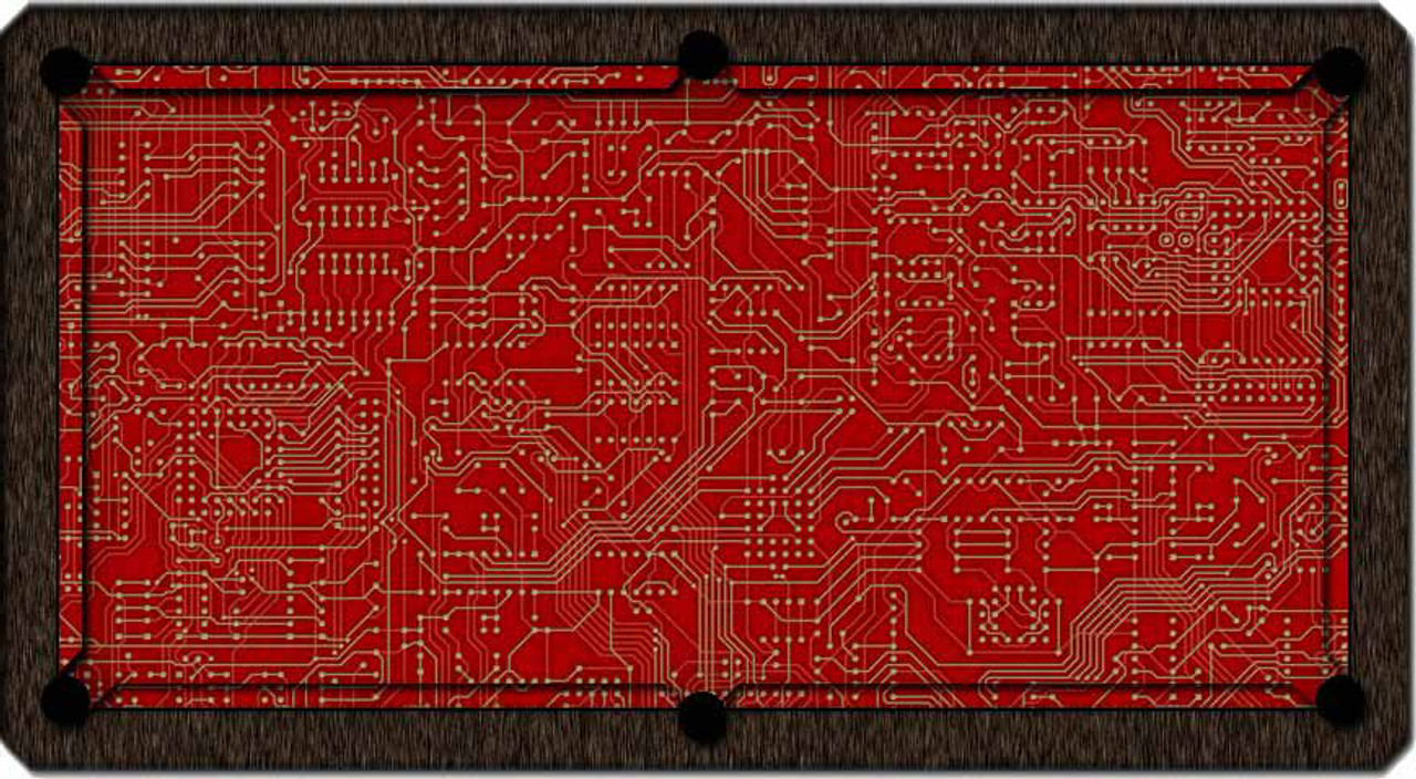 ArtScape Red Circuit Board Pool Table Cloth