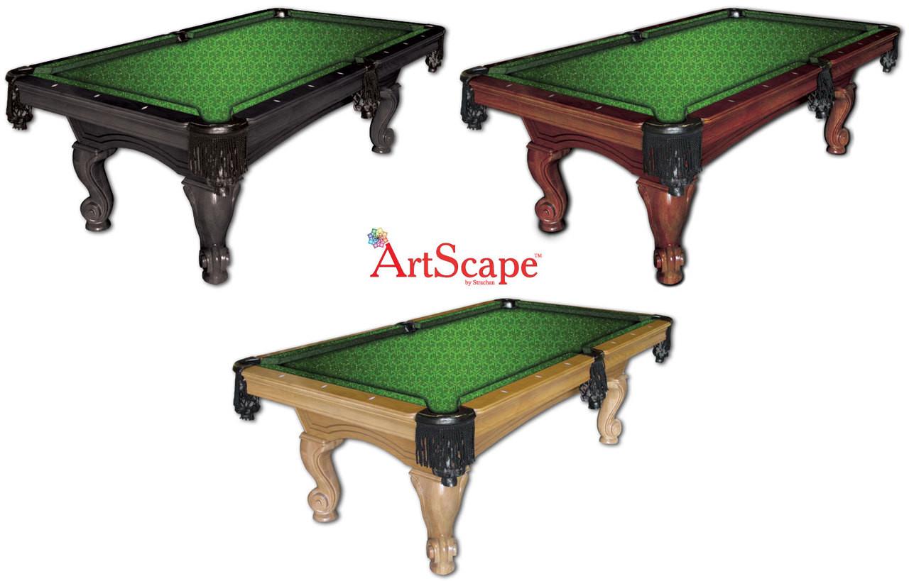 ArtScape Green Triangles Pool Table Cloth