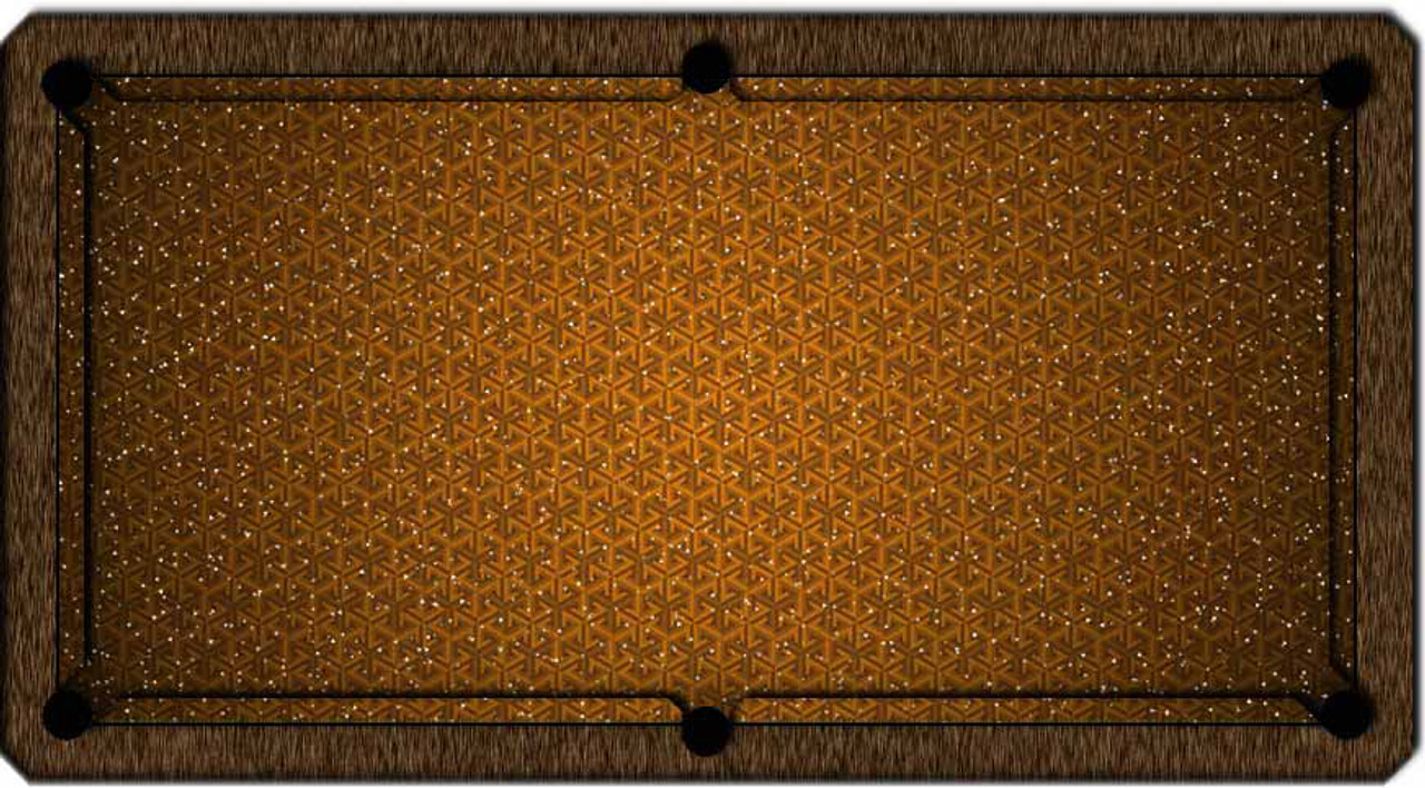 ArtScape Gold Triangles Pool Table Cloth