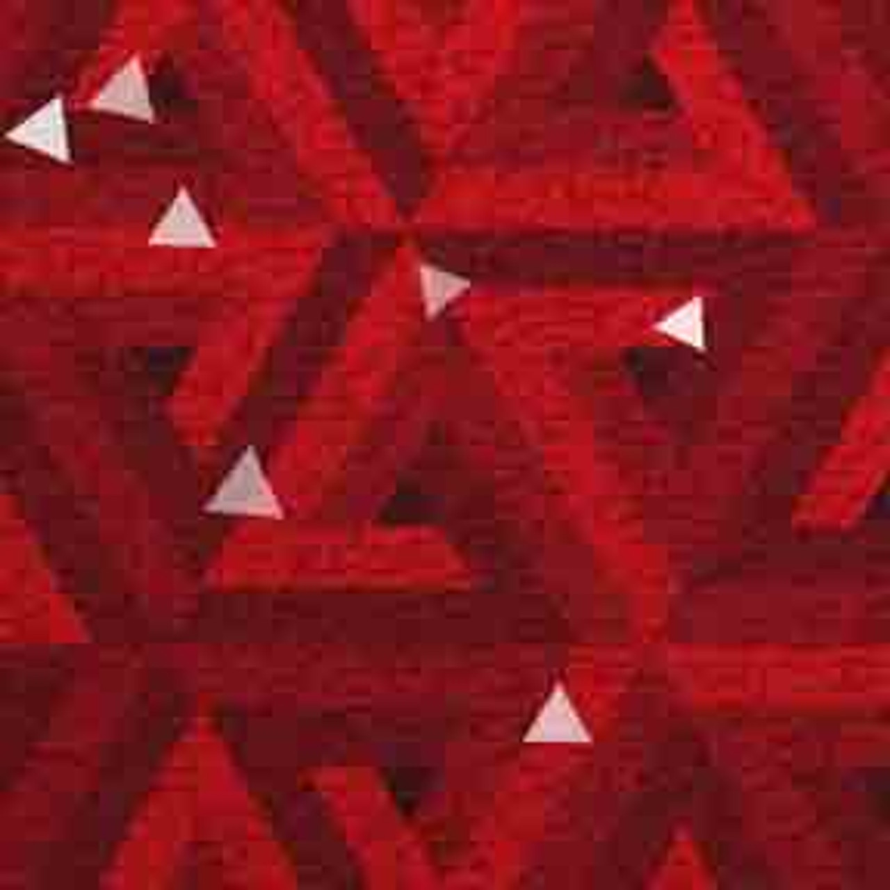 ArtScape Red Triangles Pool Table Cloth