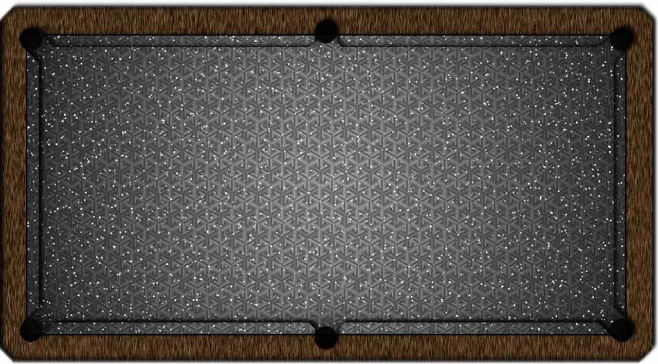 ArtScape Silver Triangles Pool Table Cloth