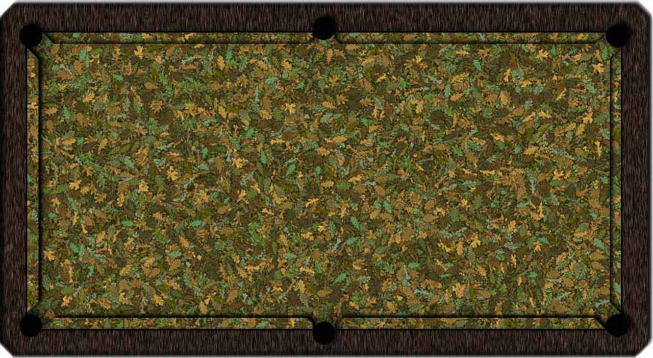 ArtScape Oak Leaves Pool Table Cloth