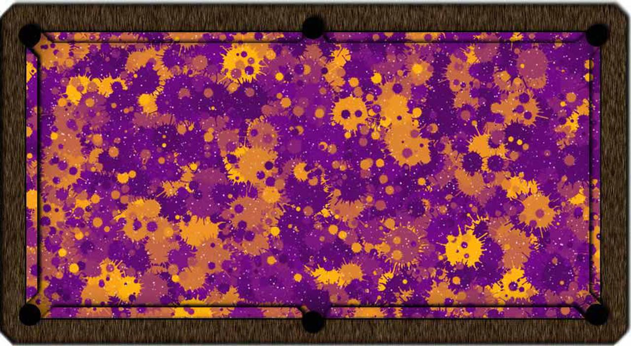ArtScape Purple Burst Pool Table Cloth