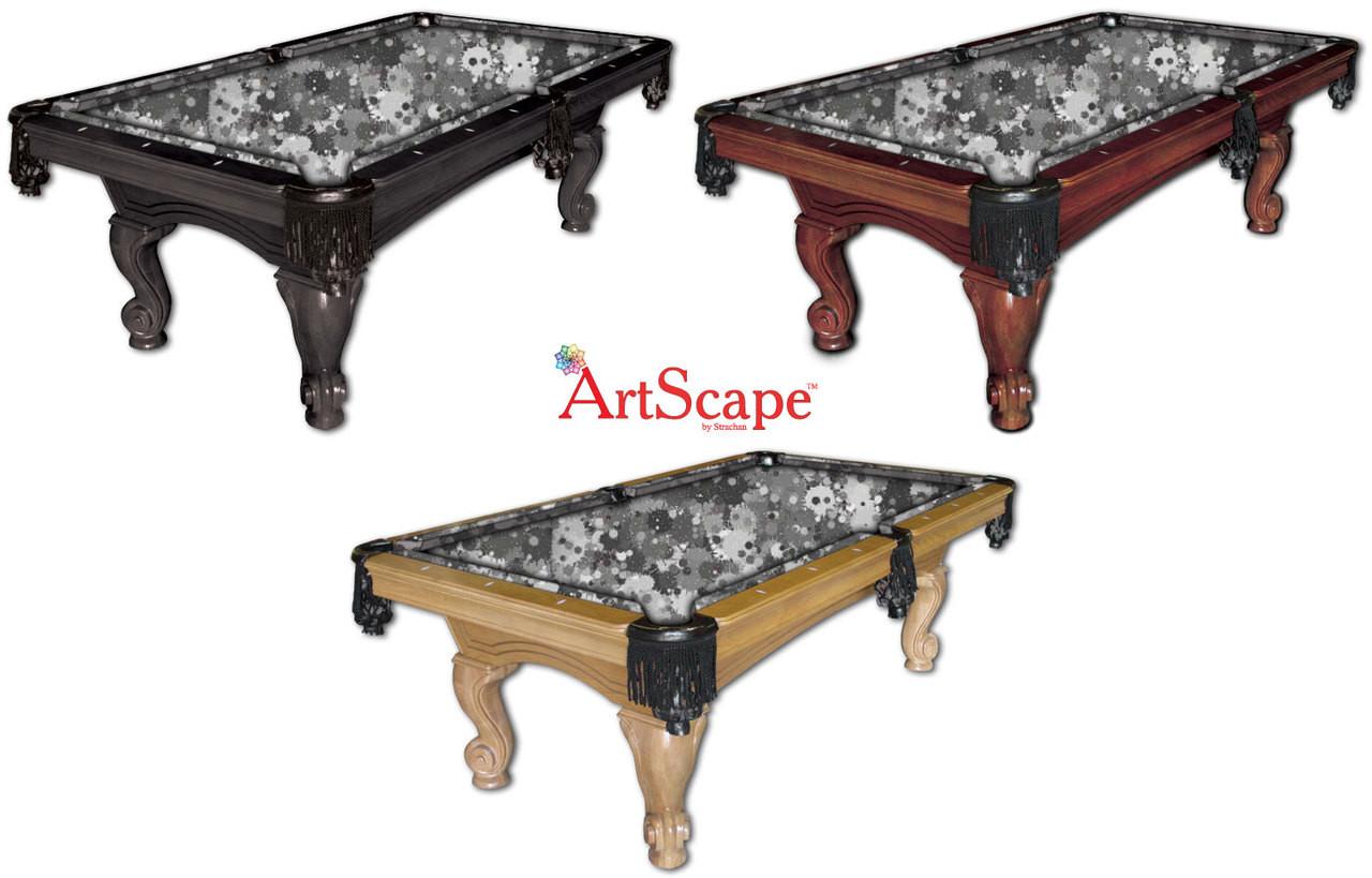 ArtScape Silver Burst Pool Table Cloth