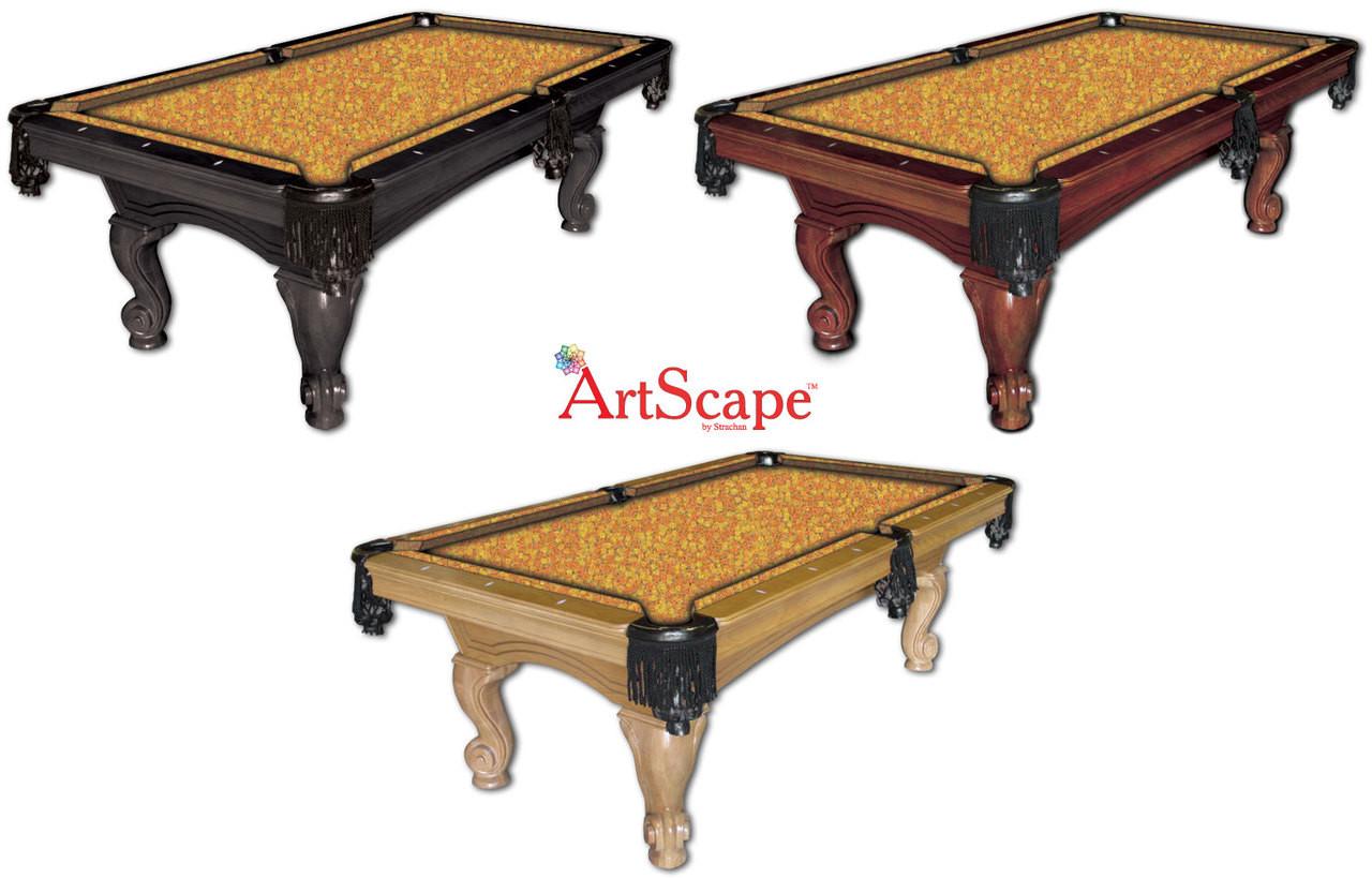 ArtScape Orange Citrus Pool Table Cloth