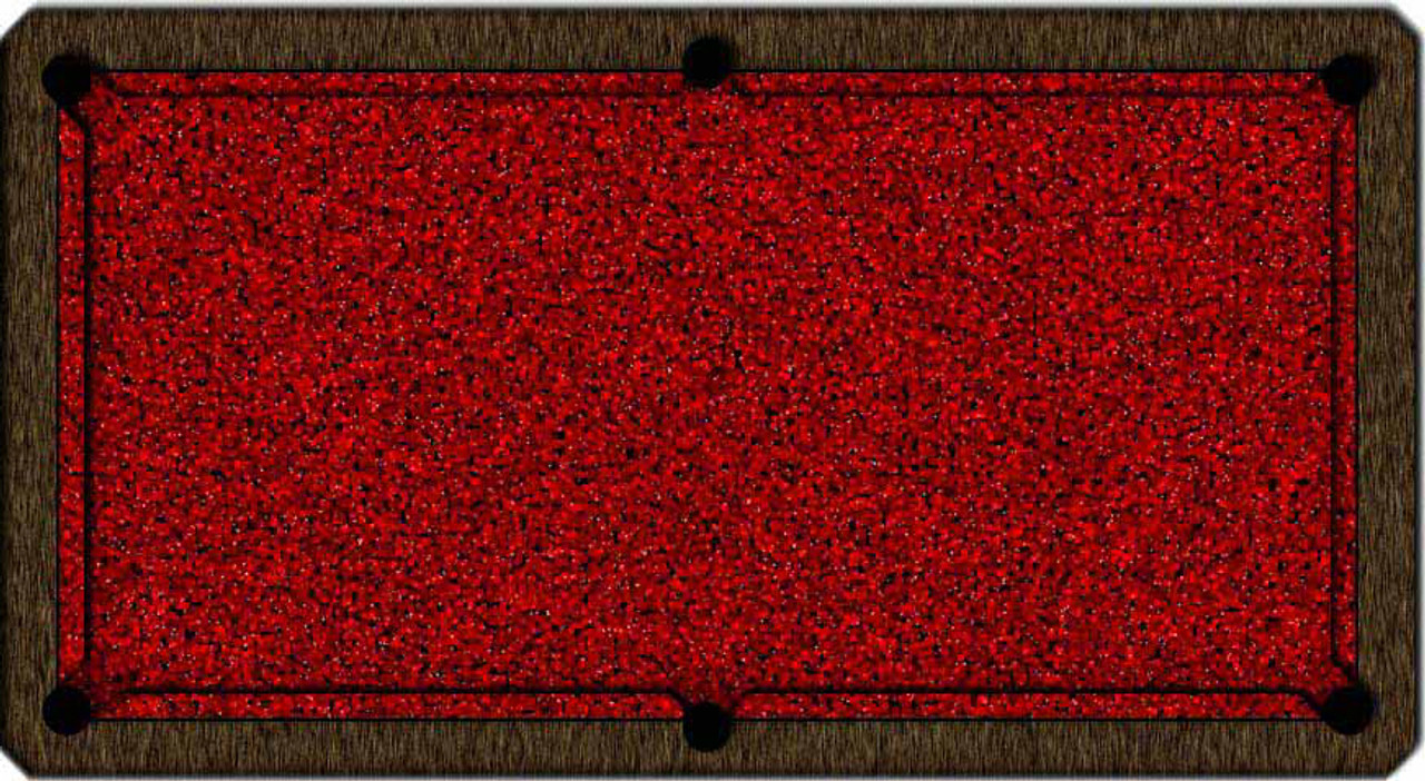 ArtScape Red Cells Pool Table Cloth