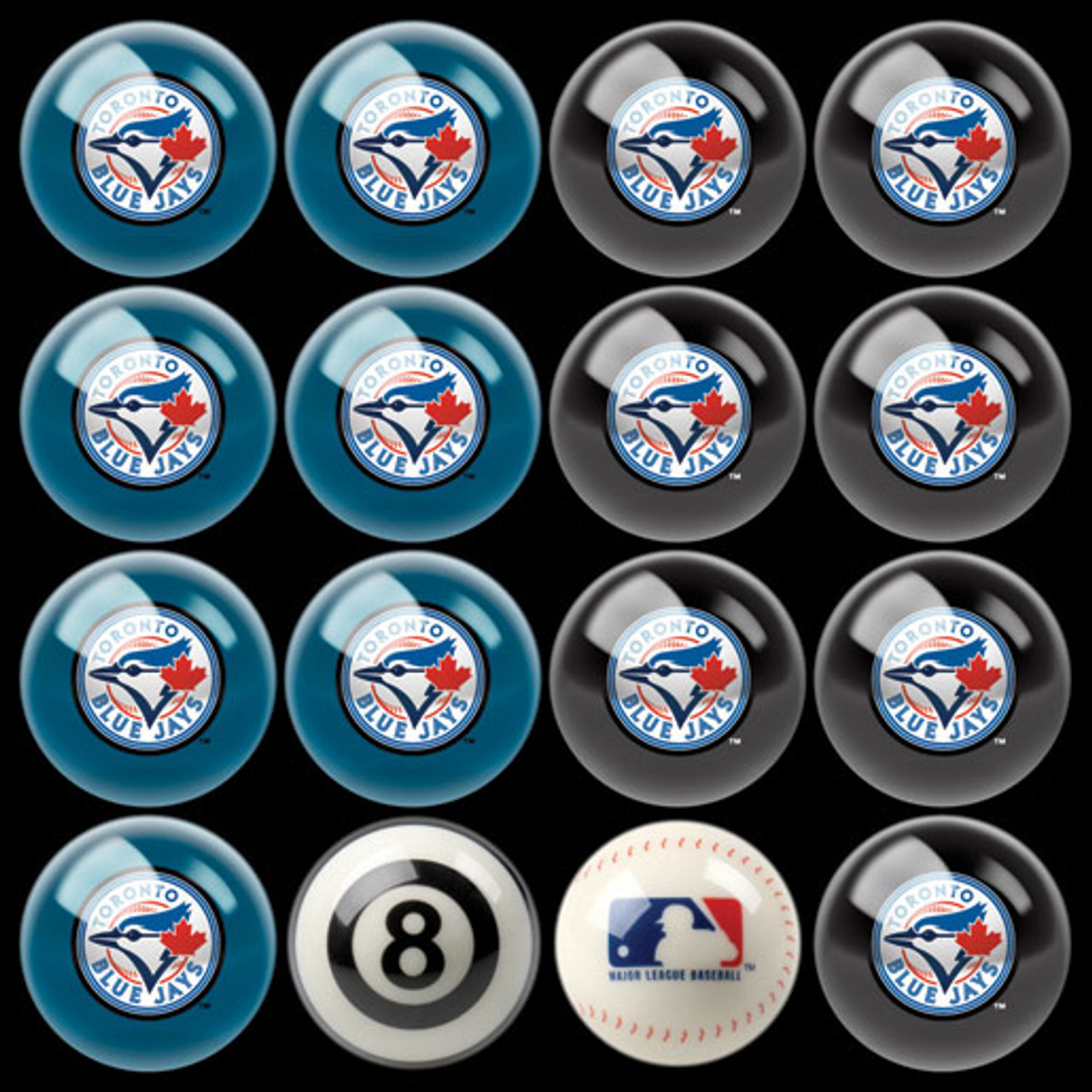 Toronto Blue Jays Pool Balls
