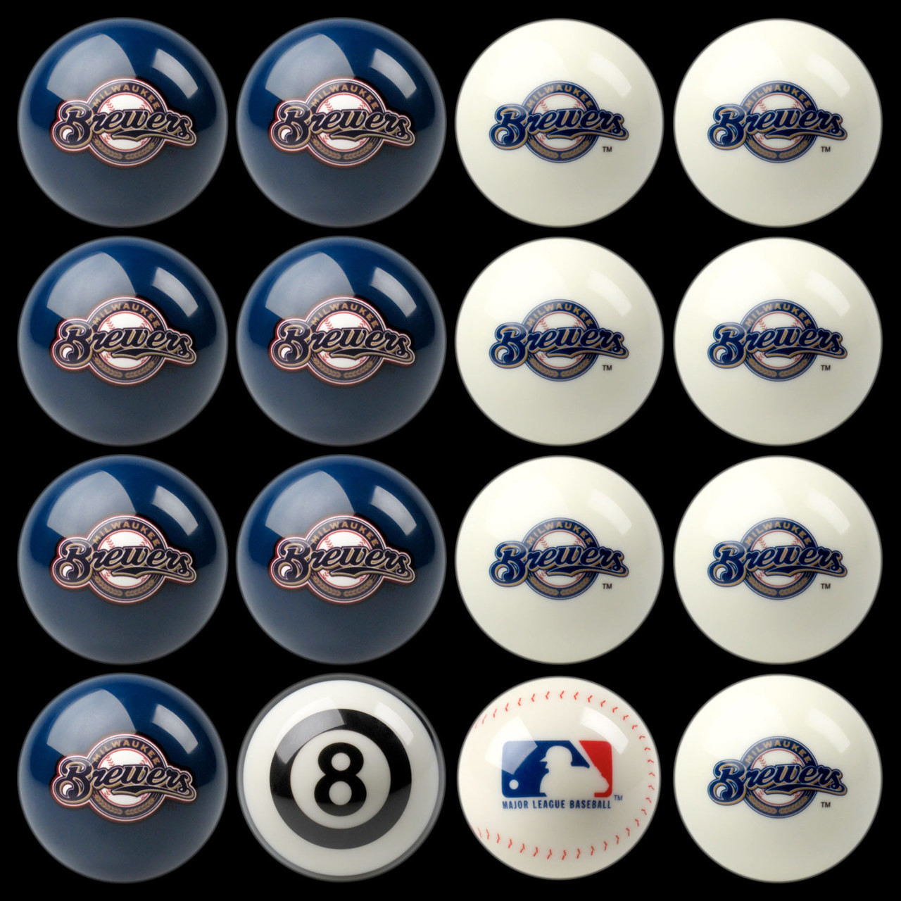 Milwaukee Brewers Pool Balls