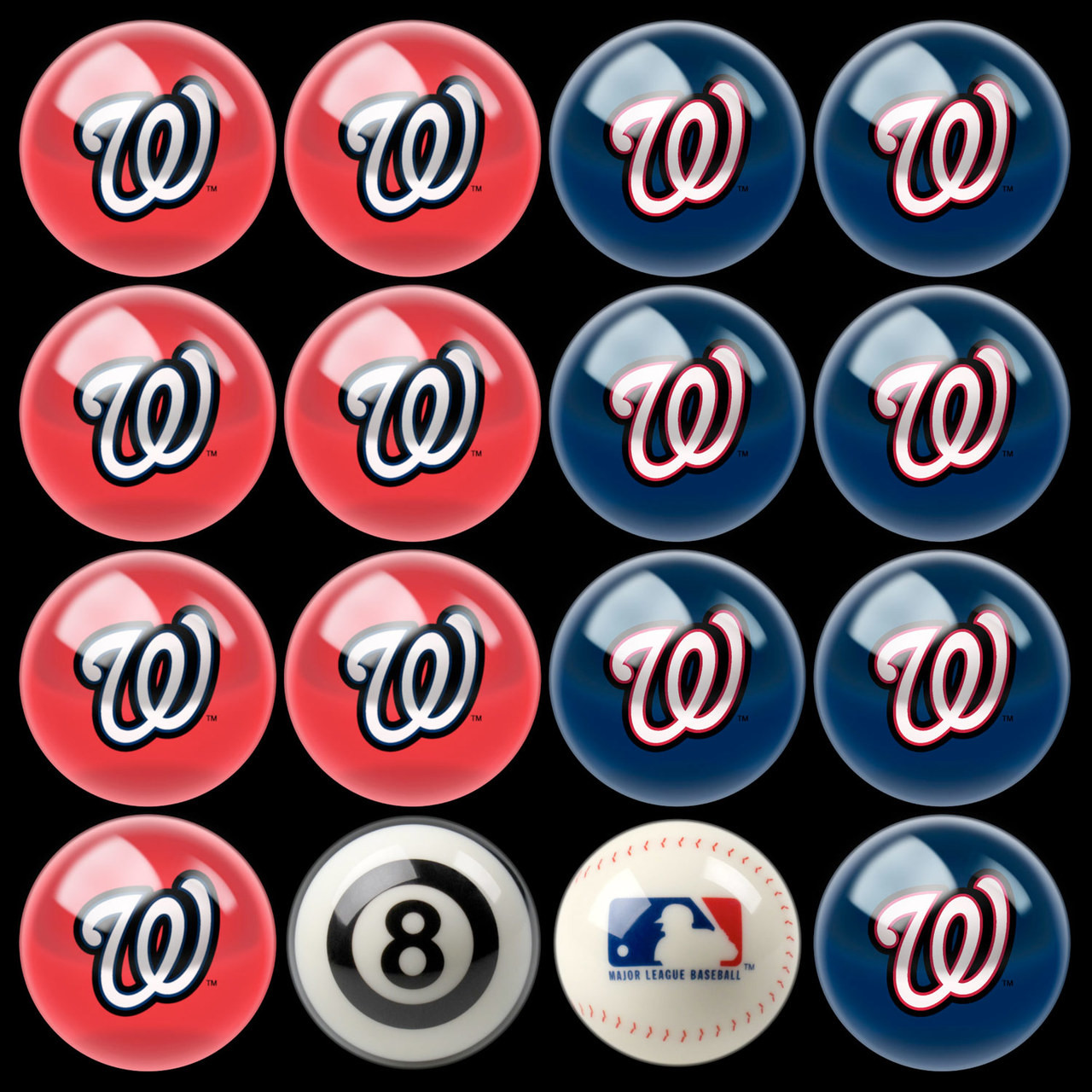 Washington Nationals Pool Balls