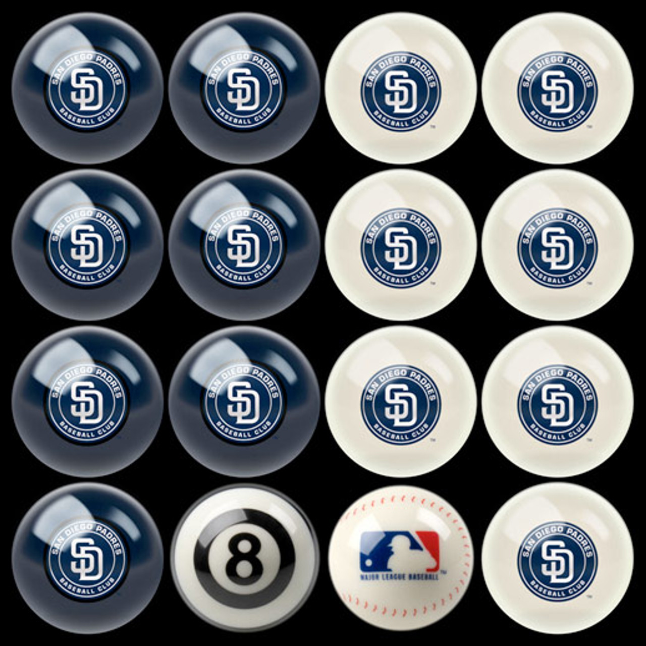 San Diego Padres Pool Balls