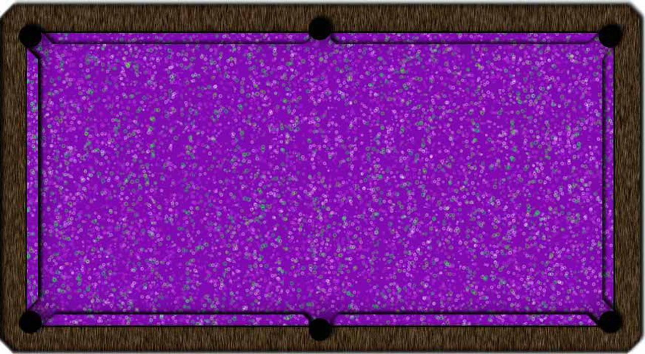 ArtScape Purple Rings Pool Table Cloth