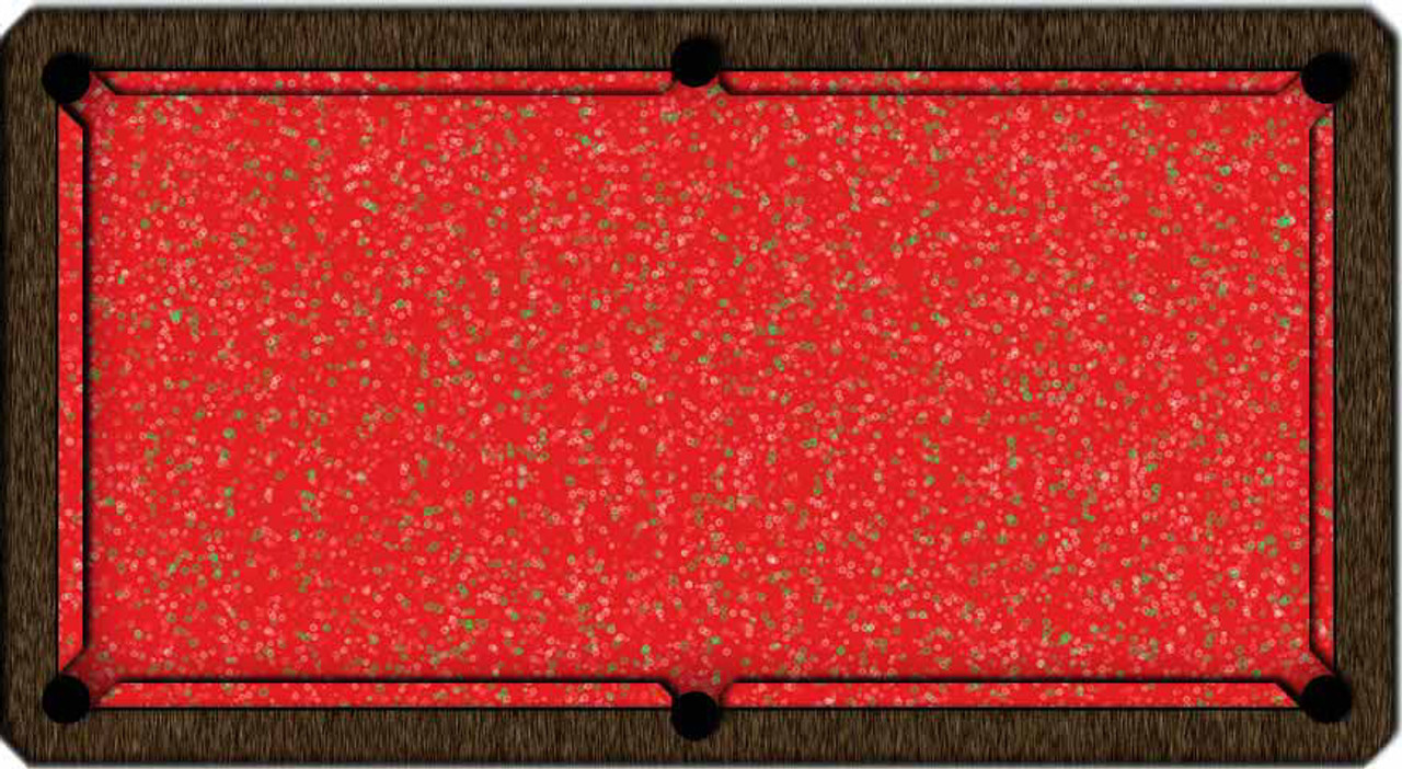 ArtScape Red Rings Pool Table Cloth