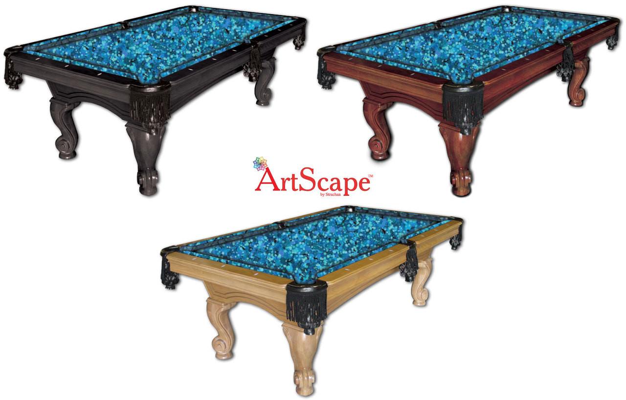 Hexagons Pool Table Cloth