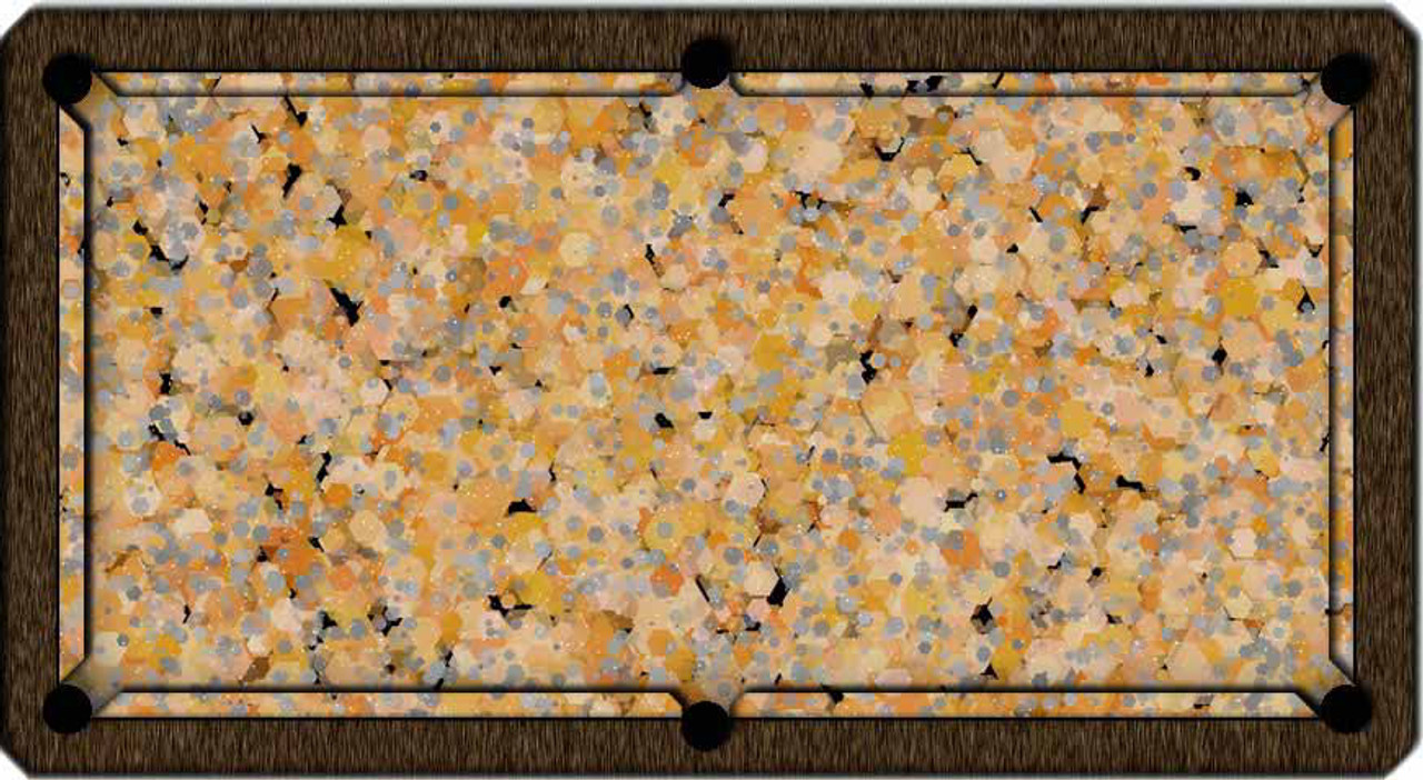 ArtScape Gold Hexagons Pool Table Cloth