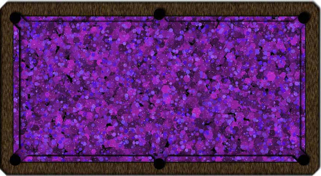 ArtScape Purple Hexagons Pool Table Cloth
