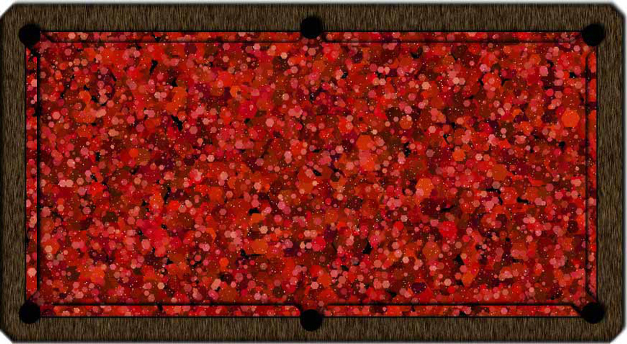 ArtScape Red Hexagons Pool Table Cloth