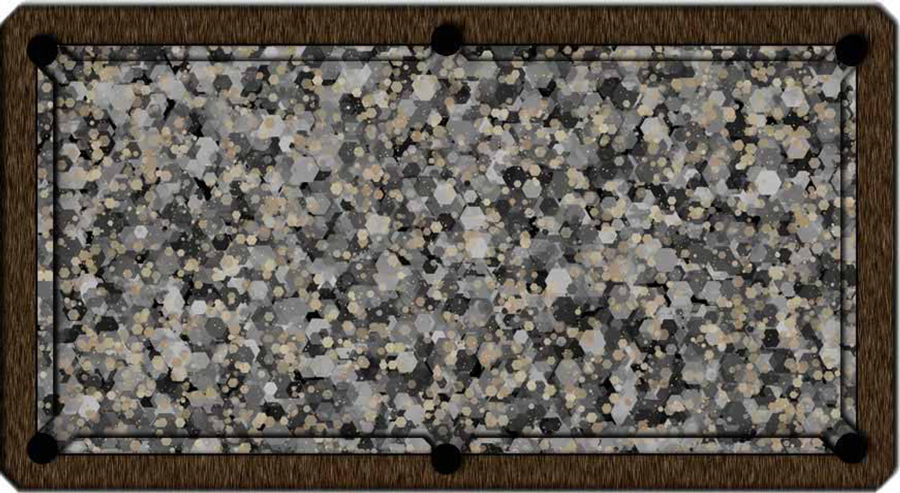 ArtScape Silver Hexagons Pool Table Cloth