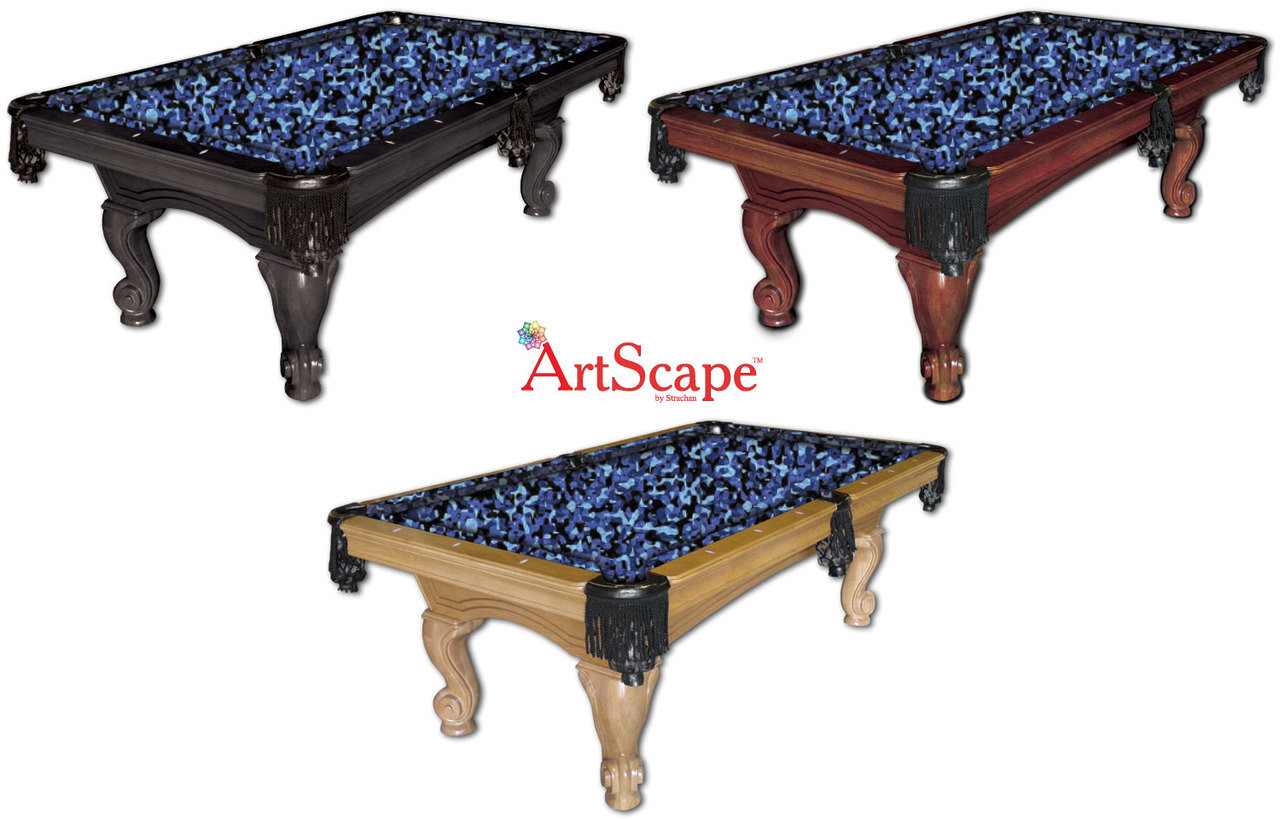 ArtScape Blue Camouflage Pool Table Cloth