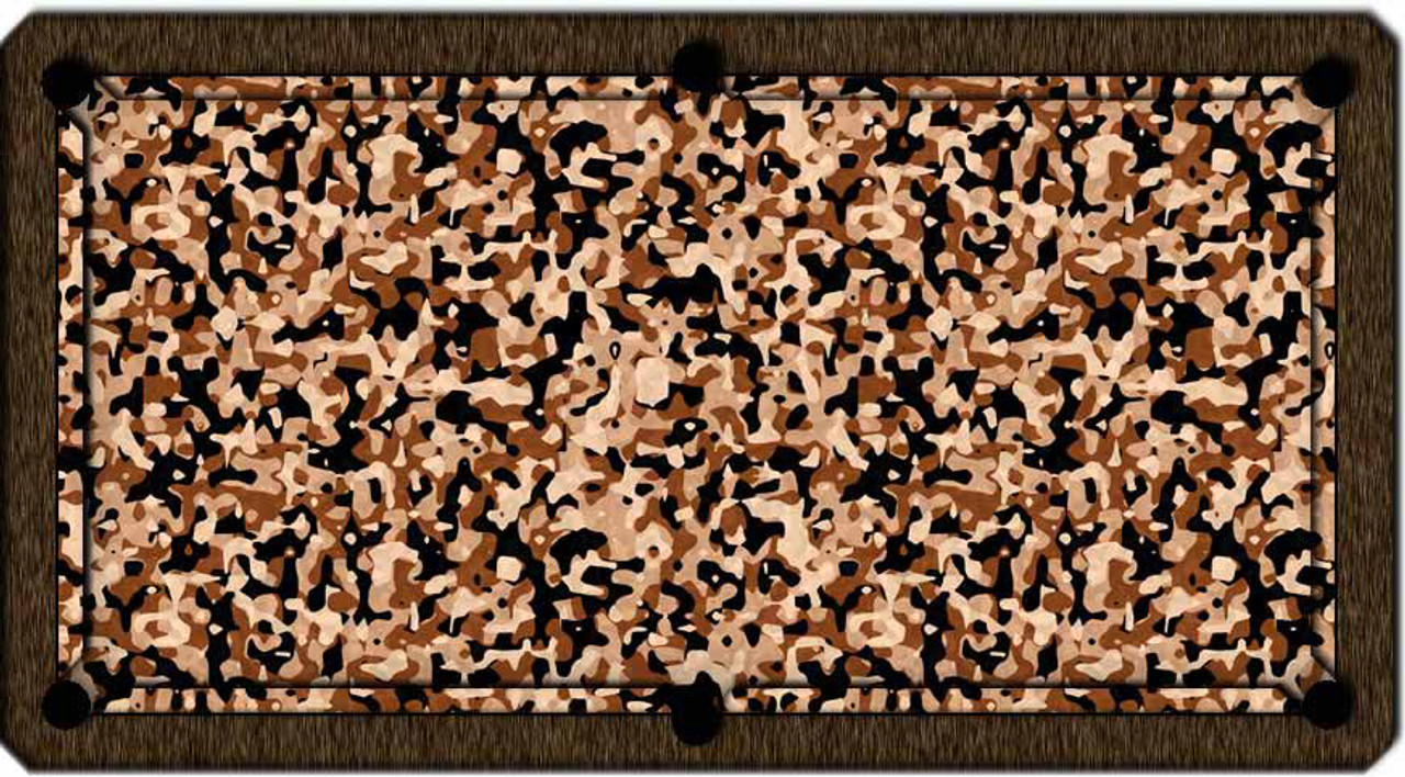 ArtScape Gold Camouflage Pool Table Cloth