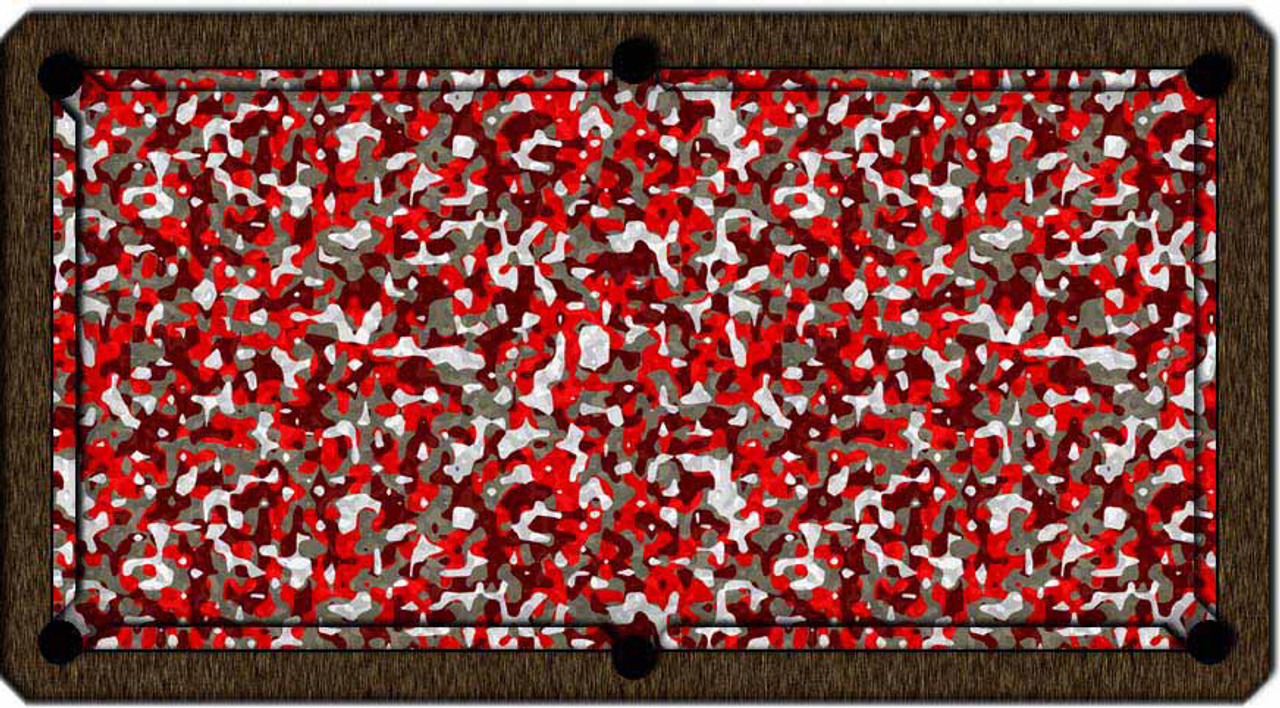 ArtScape Red Camouflage Pool Table Cloth
