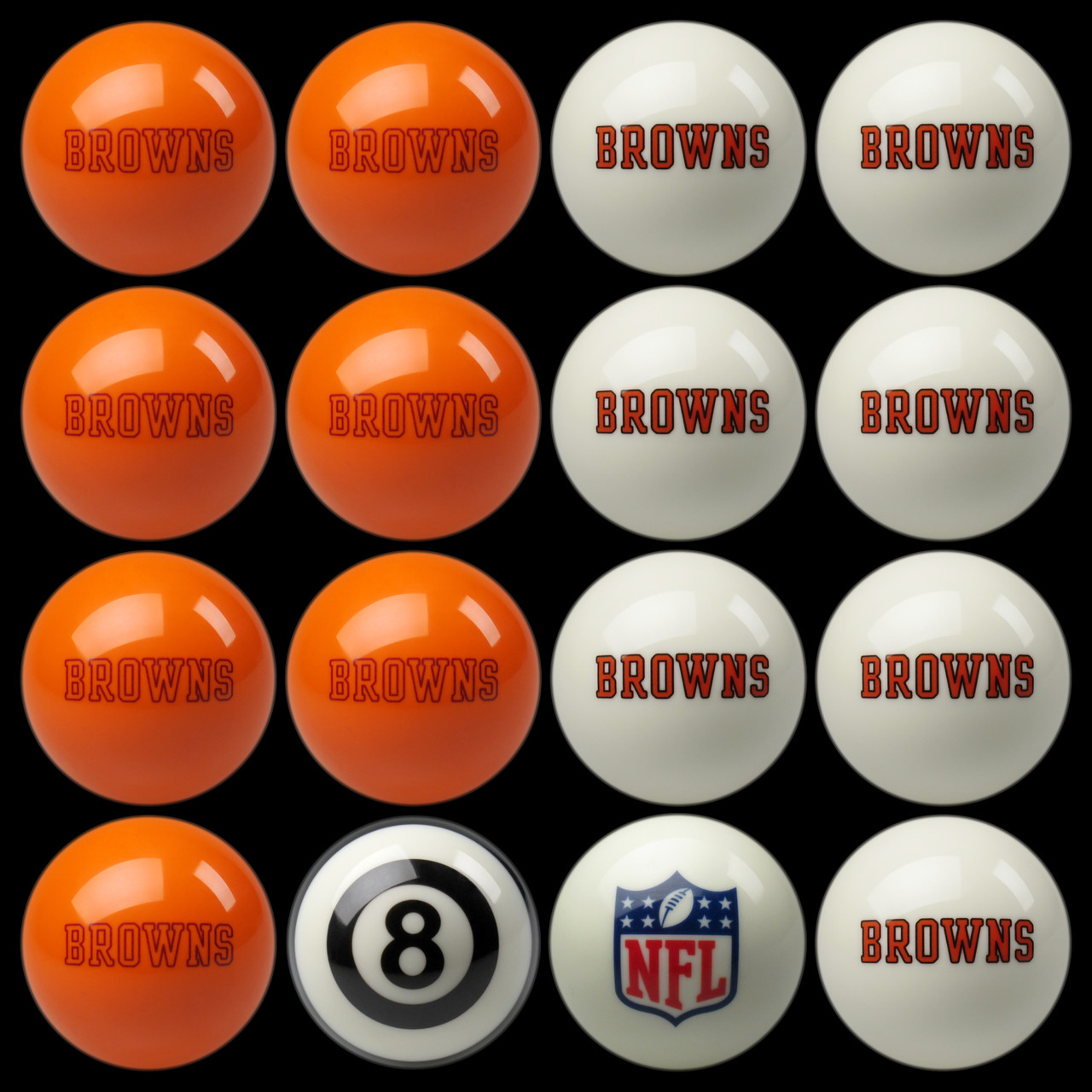 Cleveland Browns Pool Balls