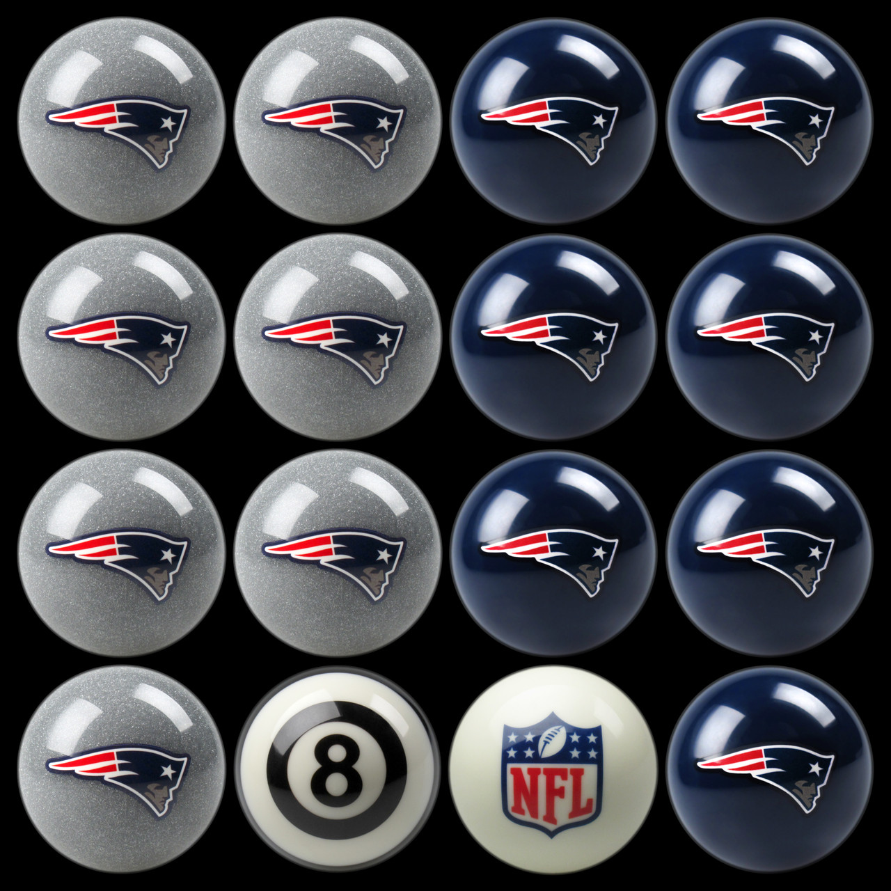 New England Patriots Pool Balls