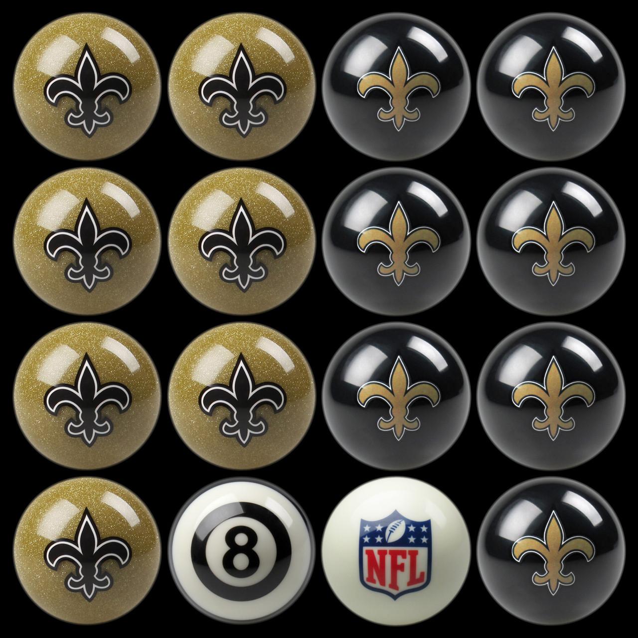 New Orleans Saints Pool Balls