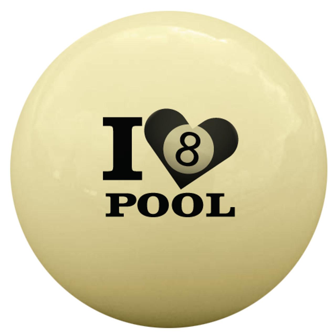 I Love Pool 8-Ball Cue Ball