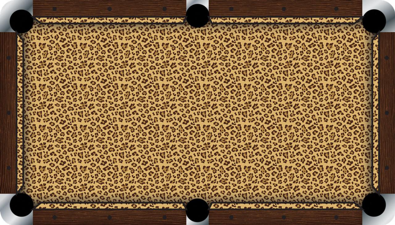 Vivid Leopard 7'/8' Pool Table Felt