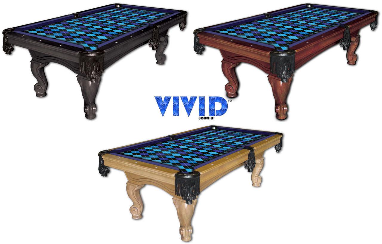 Vivid Argyle 9' Pool Table Felt
