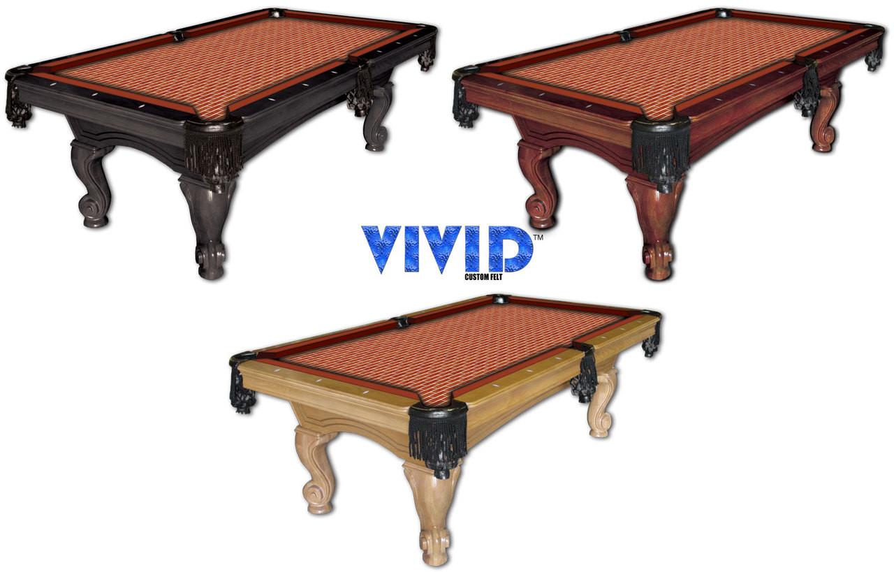 Vivid Bricks 9' Pool Table Felt