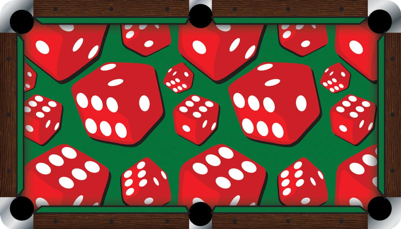 Vivid Dice 9' Pool Table Felt