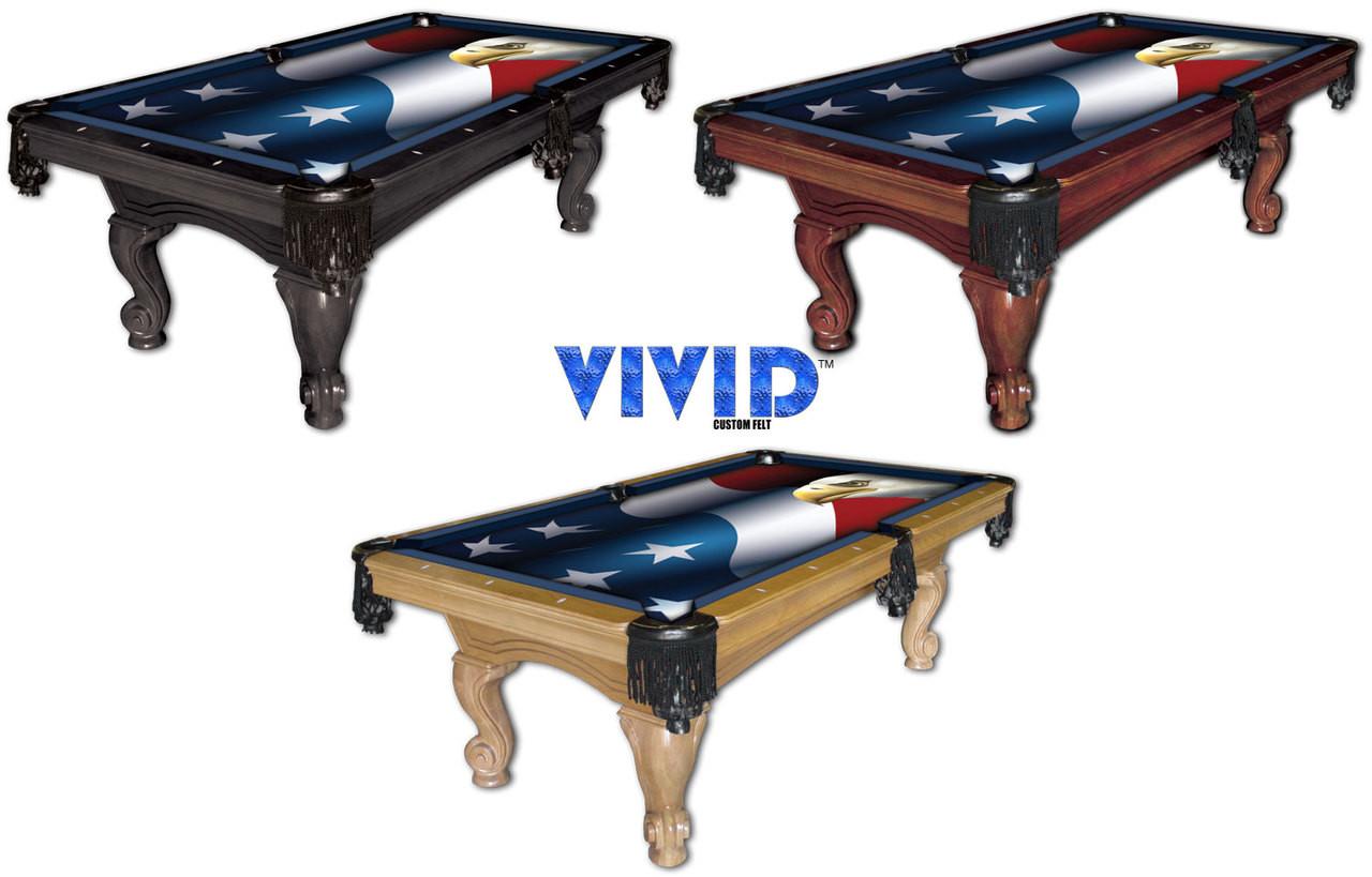 Vivid Patriot Eagle 9' Pool Table Felt