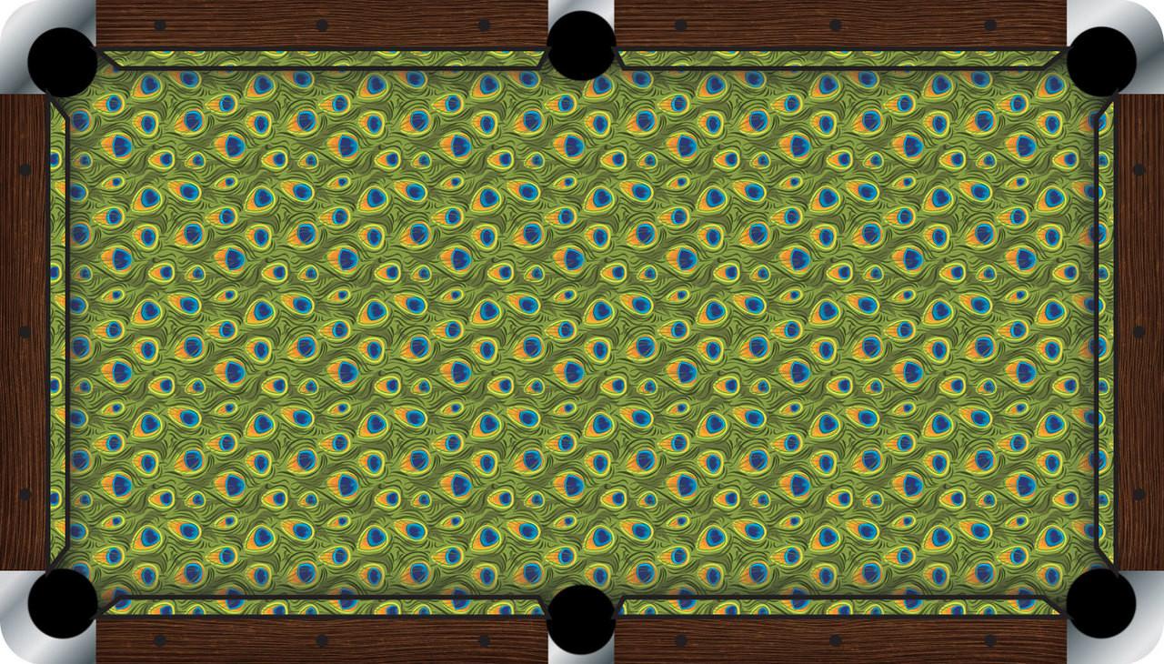 Vivid Peacock 9' Pool Table Felt