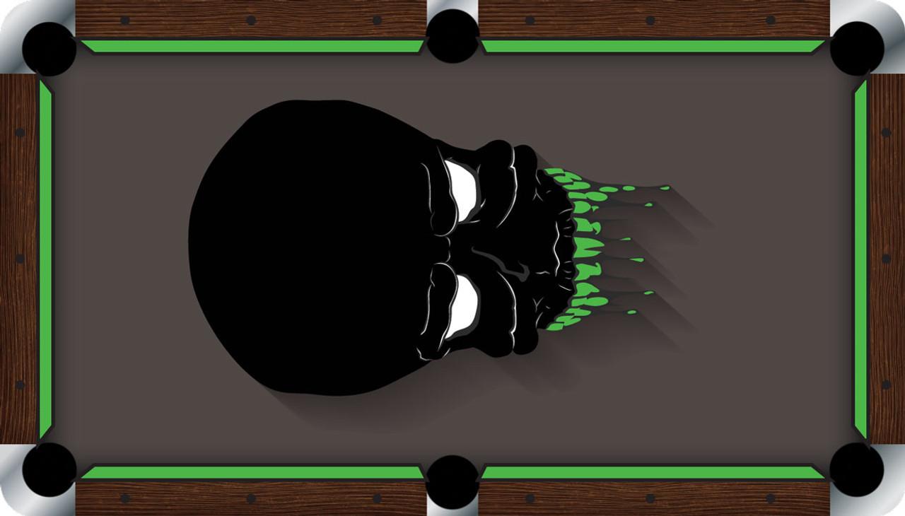 VIVID Alien Skull 9' Pool Table Felt