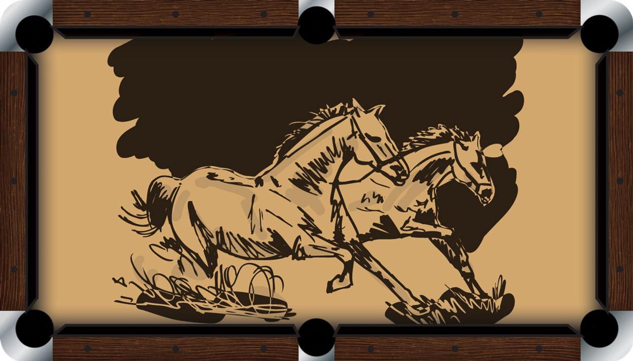 VIVID Wild Horses 9' Pool Table Felt