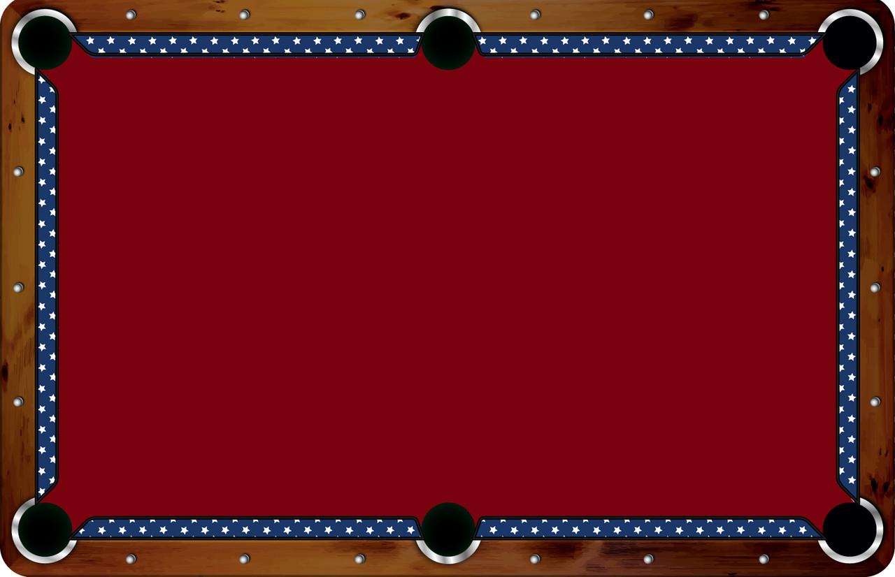 Vivid Printed Pool Table Felt Rails - Stars
