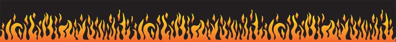 Vivid Printed Pool Table Felt Rails - Flames
