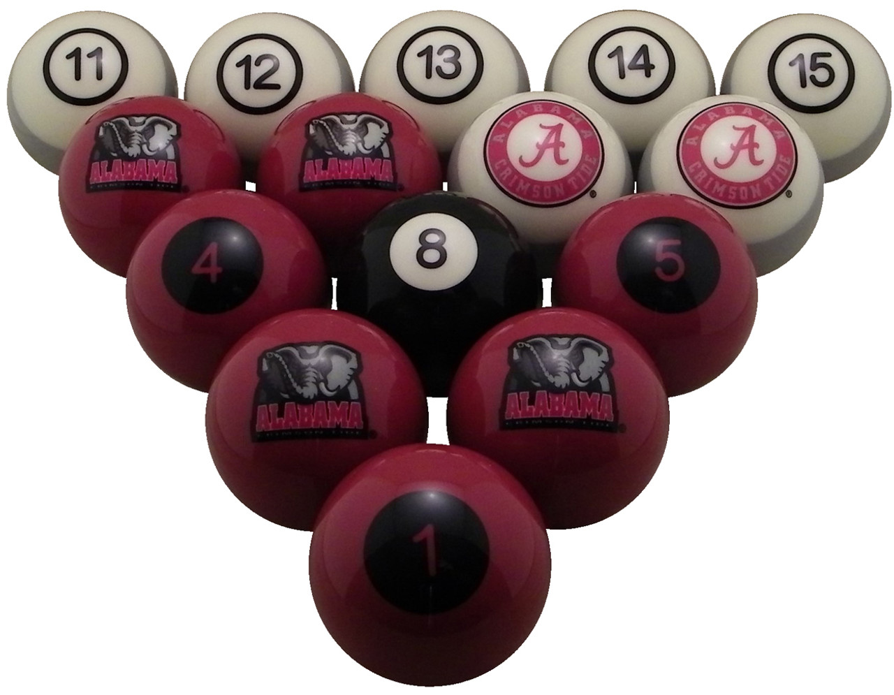 Alabama Crimson Tide Numbered Billiard Ball Set