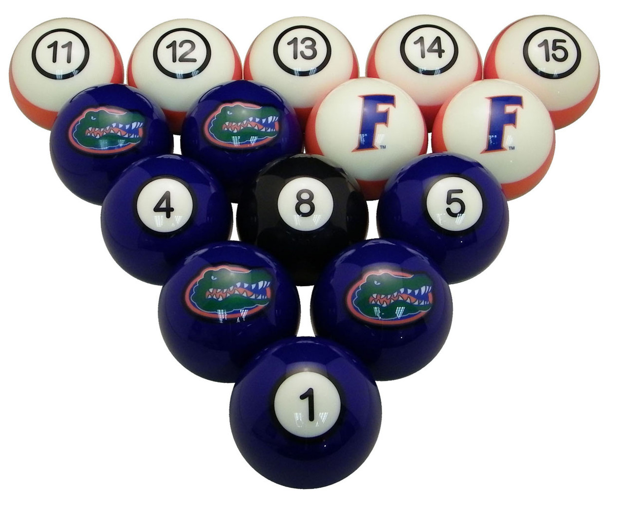 Florida Gators Numbered Billiard Ball Set