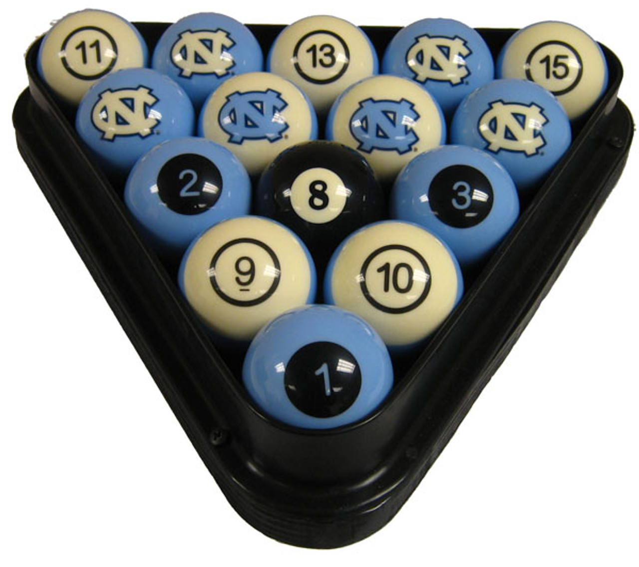 North Carolina Tar Heels Numbered Billiard Ball Set
