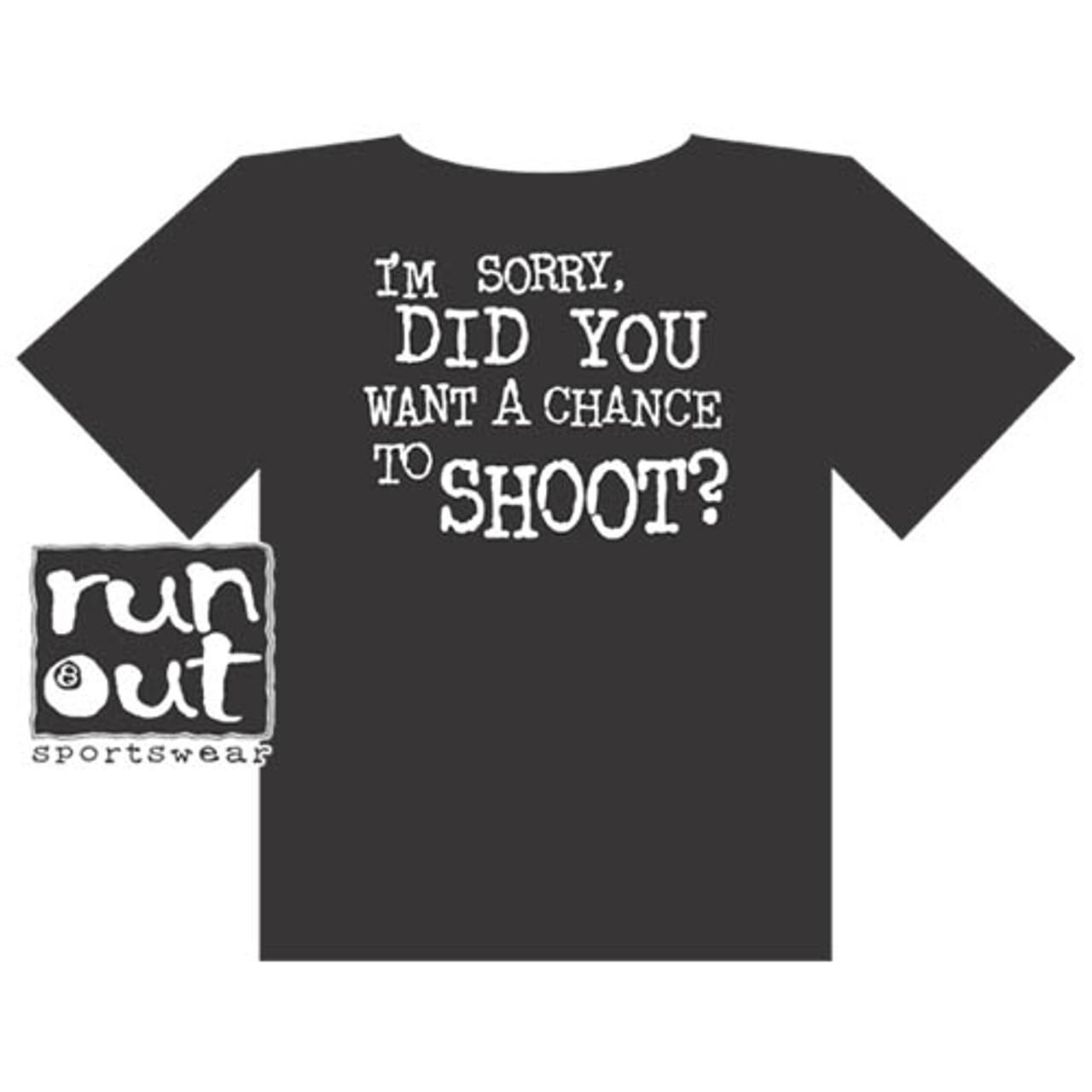 """""""Chance To Shoot"""" T-Shirt, Black"""