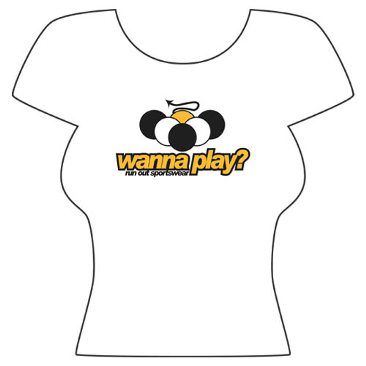 """Wanna Play?"" T-Shirt, White"